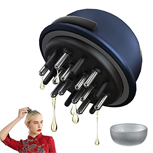 Peine aplicador de cuero cabelludo, masajeador de cuero cabelludo que promueve el crecimiento del cabello, estimula el cuero cabelludo, mejora la circulación para todo tipo de cabello de mujeres,Blue