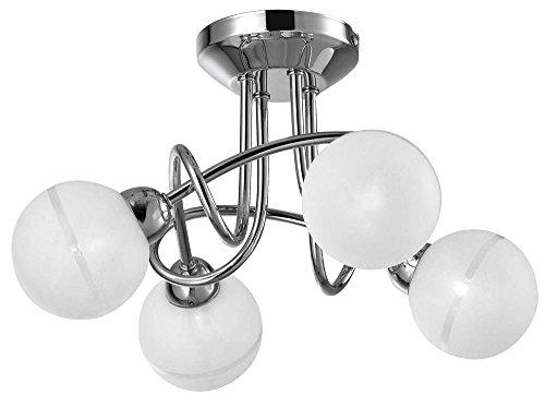 Deckenlampe Kronleuchter Lüster Leuchte Kugeln 1840lm Esto 60751-4 PEARL