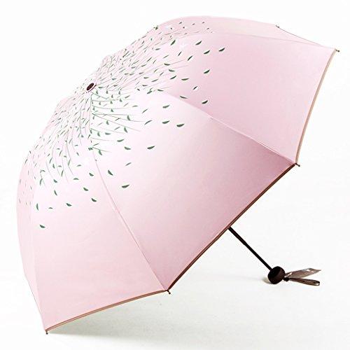 Unbekannt &Regenschirm Falten Sonnenschirm-Doppelschirm-Sonnenschutz UV weiblicher faltender Doppelgebrauch Kleiner frischer klarer Regenschirm (Farbe : I)