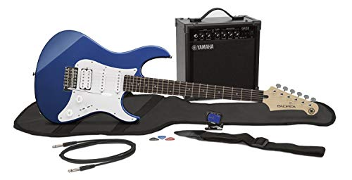 Yamaha GigMaker EG Electric Guitar Pack with Amplifier, Gig Bag, Tuner, Cable, Strap and Picks - Metallic Blue