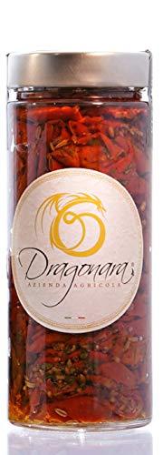 DRAGONARA - Tomates secos en Aceite e.v.o. BIO - Tarro de 220 gr - Paquete de 24 x 220 gr