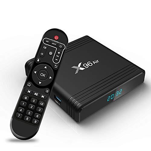 TV Box Android 10.0 SUNNZO X96AIR S905X3 4+32 Smart TV Box Streaming Media Player Dual-WiFi 2.4Ghz/5Ghz 3D 8K USB 3.0 H.265