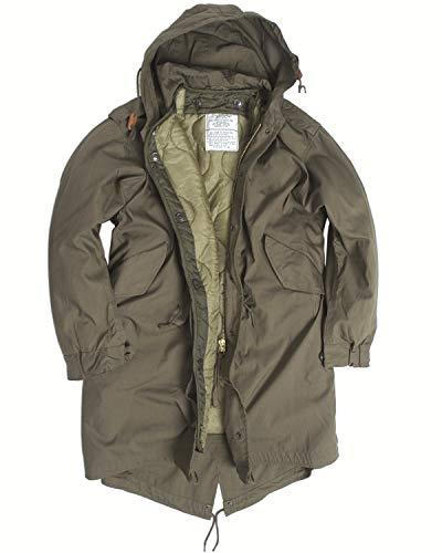 US Army Olive Drab M51Fishtail Winter-Kapuzen-Parka / -Jacke mit Futter Gr. XXXSS, grün