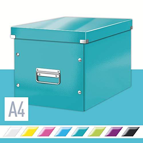 Leitz große Aufbewahrungs- und Transportbox, Würfelform, Click & Store, Eisblau, 61080051