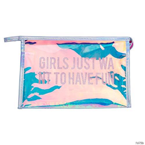 Fashion PVC Design Women Cosmetic Bag Laser Makeup Case Transparent Beauty Organizer Pouch Female Jelly Bag Clear Pouch 1675b