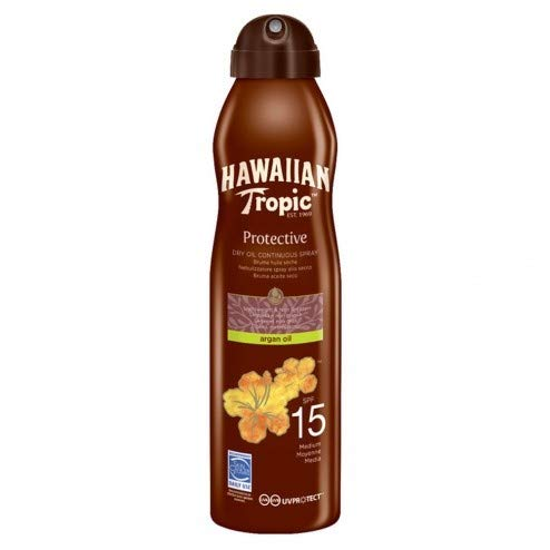 Hawaiian Tropic Protective Dry Oil Continuous Spray SPF 15 177ml