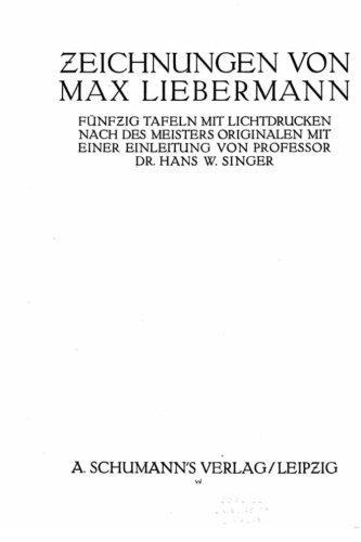 Zeichnungen von Max Liebermann