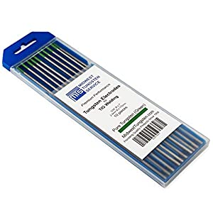 "TIG Welding Tungsten Electrodes Pure Tungsten (Green, WP) 10-Pack (3/32"") from Midwest Tungsten Service"