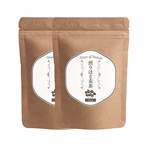 煎りはと麦茶 ティーバッグ 2g×30包(60g) 100%国産 無添加 低カロリー ハト麦茶 美容 美肌 ヨクイニン ハトムギ 健康茶 お茶 健康食品 (2袋)