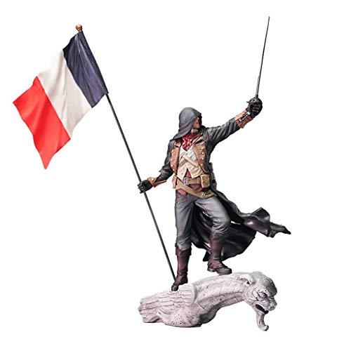 LBBD Arno Dorian Assassins Creed Unity Die Französisch Revolution Attentäter Robes Büste Statue Action-Figur Exquisite Box - 25cm