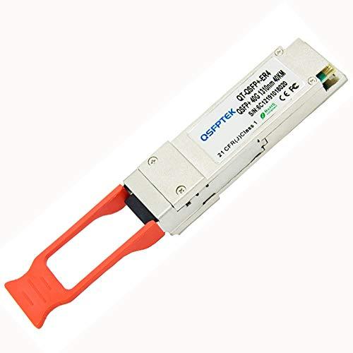 QSFPTEK módulo 40GBASE-ER4 QSFP+, transmisor-receptor óptico del DOM LC SMF de 1310nm 40km para las redes QSFP-40G-ER4 de Arista