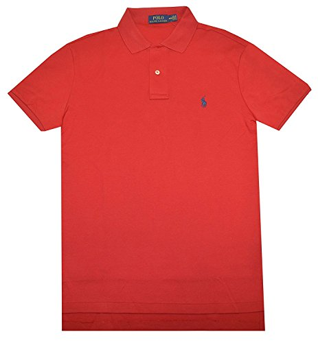 Polo Ralph Lauren Men Medium Fit Interlock Polo Shirt, RL 2000 Red, Large