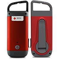 2-Pack American Red Cross Clipray Crank-Powered, Clip-On Flashlight