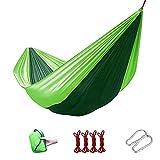 WSYGHP Hamaca de Campamento Nylon Duradero, 230 * 85 cm / 270 * 145 cm 210t Material de Nylon de paracaídas, Hamaca al Aire Libre para jardín Interior al Aire Libre Hamaca
