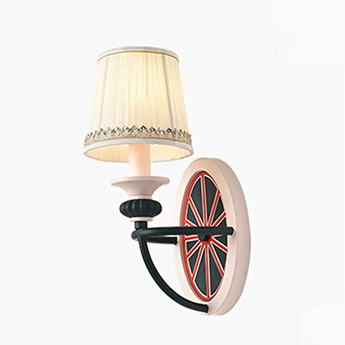 Wandlamp wandlamp bedlampje slaapkamer mediterrane stijl Amerikaanse stijl creatieve woonkamerlamp tienerkamer kinderkamer lampje en