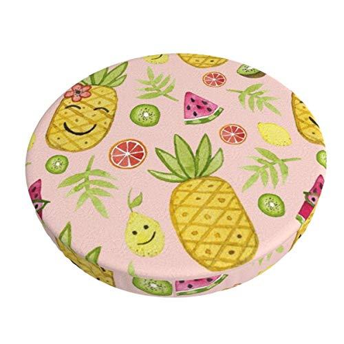 Coprisedile Rotondo per Sgabello,Ananas Tropicale,Copri Sgabello,Cuscino per Sgabello da Bar,Fodera Coprisgabello