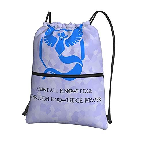 Po-ke-mon Go - Bolsas de deporte para escuela, bolsas de polietileno, con cordón, impermeable, bolsa de gimnasio, mochila diaria con bolsillo interior con cremallera