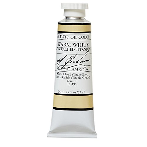 M. Graham & Co. Oil Paint, Warm White/Unbleached Titanium