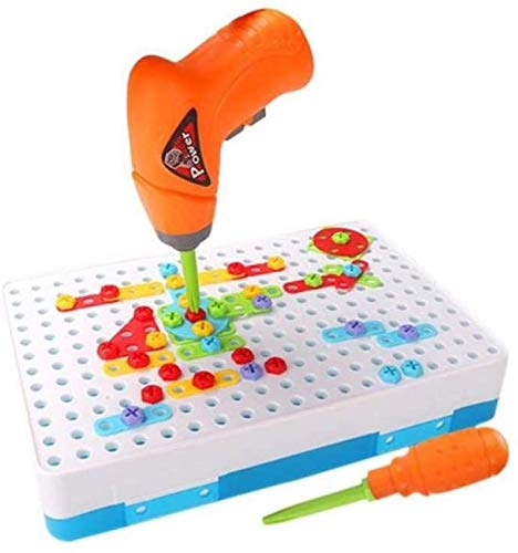 Zeyujie Young Children's Electric Drill Nut Disassembly And Assembly On The Combination Tool Table, Hands-on Disassembly And Assembly, Screw Screw Educational Toy Drill Design, Educational Constructio