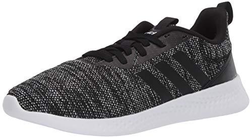 adidas Men's Puremotion Running Shoe, Black/Black/White, 10.5