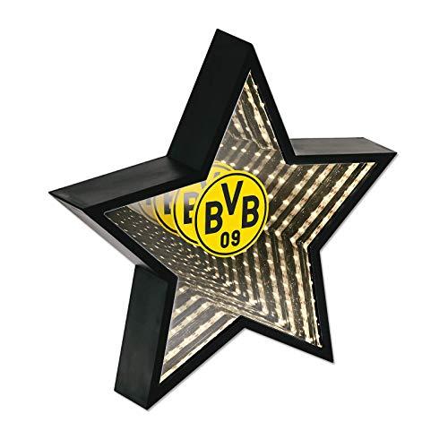 Borussia Dortmund Erwachsene Dekoration BVB-LED Stern, schwarzgelb, einheitsgröße