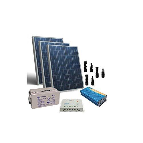 Kit solare baita 300W 12V Pro pannello regolatore inverter 1000W batteria 90Ah