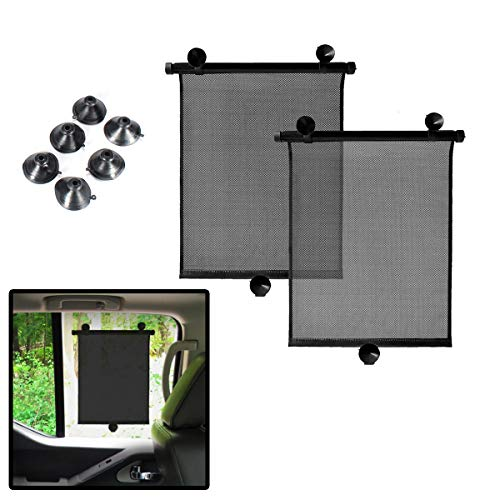 Product Image of the VaygWay Car Window Sun Shade - Car Roller Blinds Retractable Sunshade – Car...