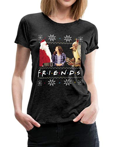 Spreadshirt Friends Ugly Christmas Sweater Vrouwen Premium T-shirt