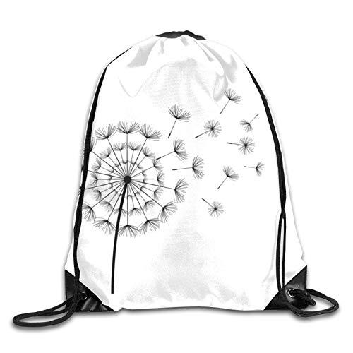 Soft Cinch Pack,Lightweight Gymsack,Bulk Backpack,Gym Drawstring Bags,String Travel Bag,Drawstring Backpack,Yoga Sack Best Dandelion Illustrations