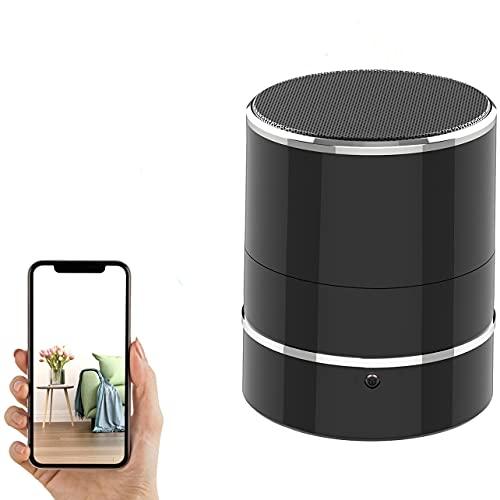 Hidden Camera Speaker - Spy Camera - PTZ Rotate 180° 1080P WiFi HD Speakers Wireless Mini Camera Video Recorder Motion Detection Nanny Cam