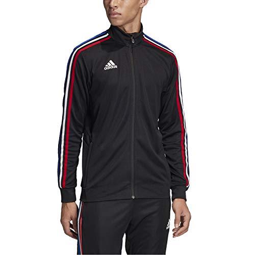 adidas Men's Alphaskin Tiro Training Jacket (BLACK / POWER RED / WHITE / BOLD BLUE, Small)