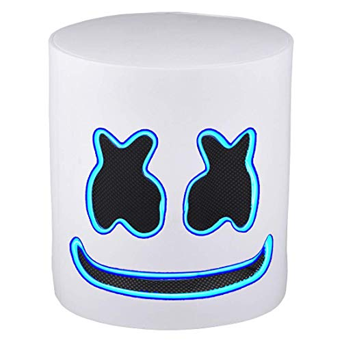LED Masken DJ Maske Party Bar Musik Cosplay Helm für Kinder Erwachsene Neuheit Kostüm Party, Blau