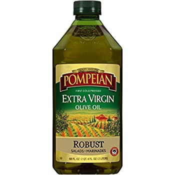 Pompeian Robust Extra Virgin Olive Oil First Cold Pressed Full-Bodied Flavor Perfect for Salad Dressings & Marinades 68 FL OZ.