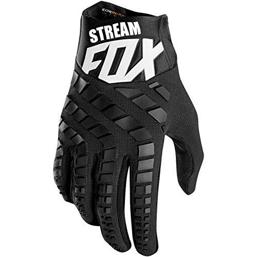 Houer Stream Fox crosshandschoenen Top motorhandschoenen Moto Mountainbike MTB handschoen Drit fietshandschoenen, zwart, L