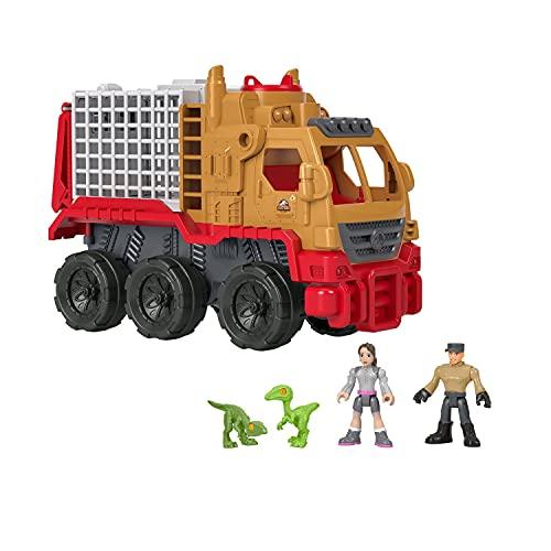 Imaginext Jurassic World, Transportadora de Dinosaurios y Yaz, Dinosaurio de Juguete para niños de 3 años en adelante