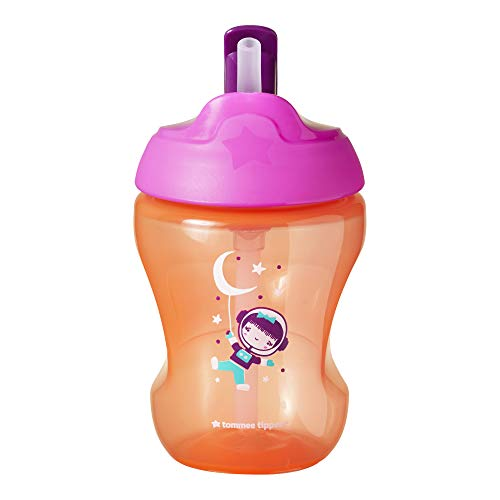 Tommee Tippee Trainer Straw Cup 6 Months+, Purple (Colours May Vary)