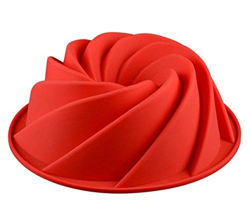 MiYan Large Bundt Spiral Bundt Pan, Molde para pastel con forma de flor ...