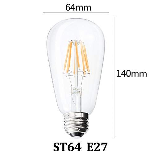 XHSHLID Vintage kaars geleid draad lampen lichtkogel verlichting hoofddecoratie energiebesparing