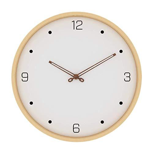 WEHOLY Wanduhr, zweifarbiges Holzgesicht, batteriebetrieben, leises Uhrwerk, große dekorative Uhren für dekorative Innenräume Büro Schlafzimmer Wohnzimmer, D, 40,8 cm