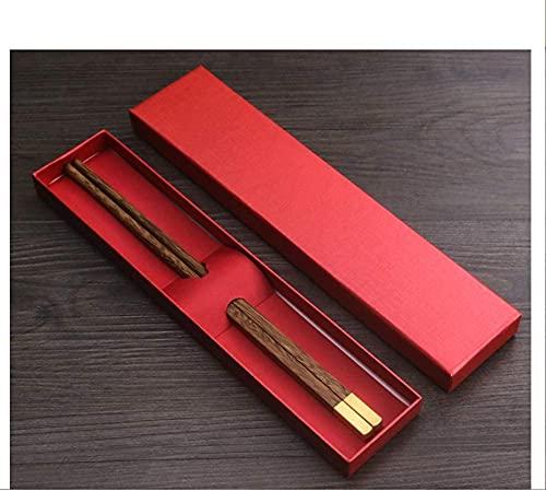 Palillos reutilizables chinos palillos de madera lavavajillas seguro de vajilla portátil Chopstick, un par de 1 sets alas de pollo de madera de madera antideslizante para cocinar comiendo-a