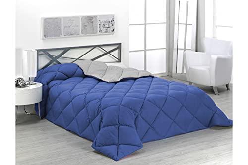 SABANALIA - Edredón nórdico de 400 g Reversible (Bicolor), para Cama de 135/150 cm, Color Azul y...