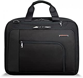 Briggs & Riley Verb-Adapt Expandable Brief Briefcase, Black, One Size