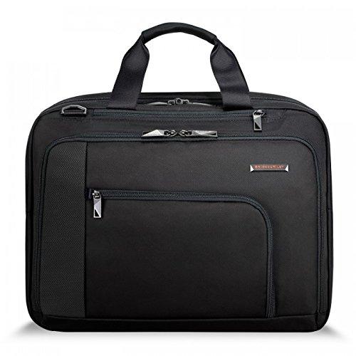 Briggs & Riley Verb-Adapt Expandable Brief Briefcase, Black, One Size