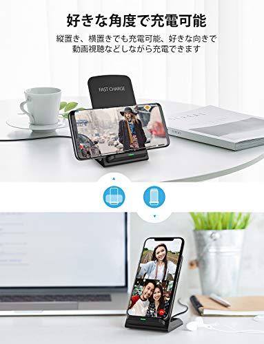 Seneo ワイヤレス充電セット 急速ワイヤレス充電器 QC3.0アダプター付 Qi認証済み PA135A