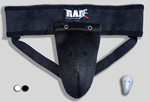 RAD Groin Guard Protective MMA Safety Cup Martial Arts Kick Boxing Abdominal Muay Thai Cup (Large, Black)