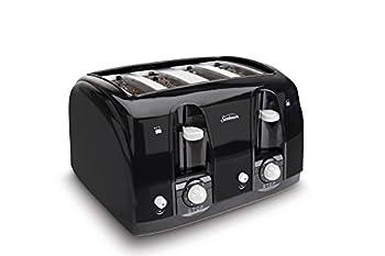 Sunbeam Wide Slot 4-Slice Toaster Black  003911-100-000