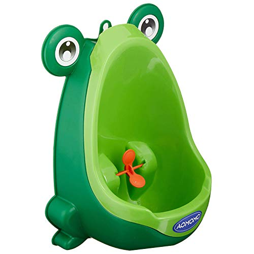 AOMOMO Frog Potty Training Urinal for Toddler Boys Toilet with Funny Aiming Target Green