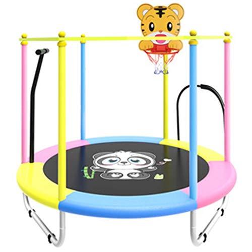 Gartentrampoline Trampolin Mit Netz Trampolin Outdoor Faltbarer Indoor Silent Trampolin Kinder Rebounder Mit Netz Outdoor-Gartensport-Springbett Mit 150 Kg (Color : Multi-Colored, Size : 120 * 120cm)