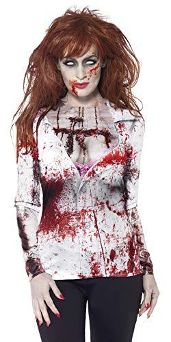 Halloween! Smiffys Weiblicher Zombie, mit T-Shirt, Sublimationsdruck