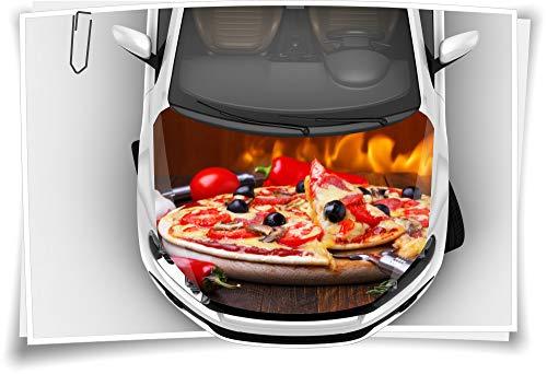 Medianlux Pizza Pizzeria Käse Salami Tomaten Motorhaube Auto-Aufkleber Steinschlag-Schutz-Folie Airbrush Tuning Car-Wrapping Luftkanalfolie Digitaldruck Folierung